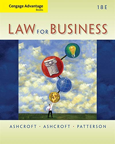 Law for Business (Cengage Advantage Books)