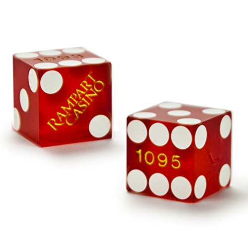 Pair of Authentic Rampart Casino Cancelled Craps Dice - Actually Used in Casino! by Brybelly