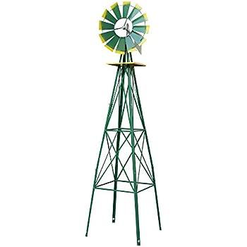 Wonderful Smartxchoices 8u0027 Wind Mill Wind Spinners Ornamental Garden Decoration  Weather Vane Weather/Rust Resistant, 8ft (Green)