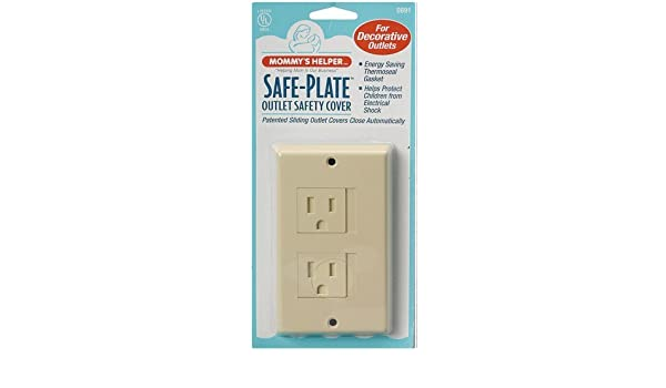 Mommys Helper Safe Plate Electrical Outlet Covers Decora Style 2 Screw White