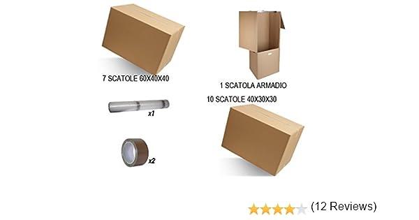 Kit cajas Mudanza Economy. Cajas cartón doble onda color 7 Cajas ...