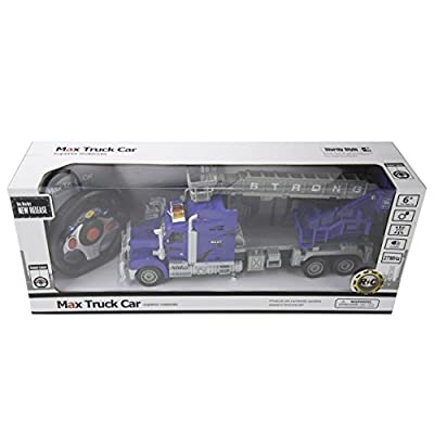 Blue Block Factory BLUEBLOCK Remote Control RC 1:15 Scale Heroic Rescue Truck Featuring Expandable and Rotatable Crane and Basket with Sounds and Lights, for Boys, Ages 3+: Toys & Games