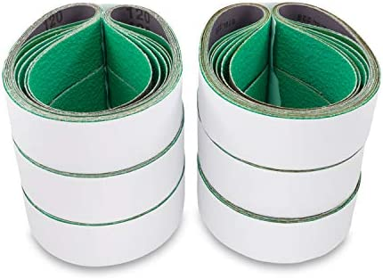 Red Label Abrasives 2 X 72 Inch 36 Grit Metal Grinding Ceramic Sanding Belts, Extra Long Life, 6 Pack