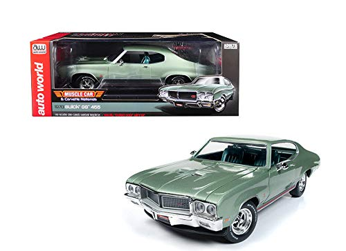 """New DIECAST Toys CAR  1:18 American Muscle - Muscle CAR & Corvette Nationals - 1970 GS 455""""Sweet Pea (Green) - Auto World AMM1149"""
