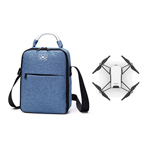 Drone_Tello Dji Tello Backpack Trow Storage Bag Shoulder Messenger Bag UAV Accessories Aerial Special Storage Box For DJI TELLO Waterproof Storage Bag Portable Shoulder Bag Durable Tote Bag (blue) by Drone_Tello