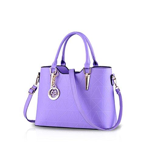 NICOLE&DORIS bolso nuevo estilo de la moda bolso casual de trabajo crossbody del monedero del bolso de las señoras(Sapphire) P¨²rpura
