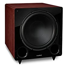 Fluance DB12MA 12-inch Low Frequency Ported Front Firing Powered Subwoofer for Home Theatre & Music (Mahogany)