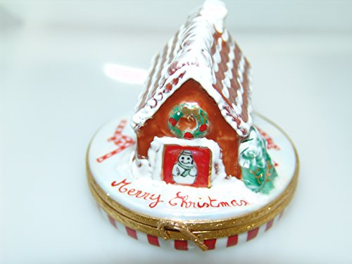 Gingerbread House/candycanes - Hand Painted Limoges (Limoges Candy)