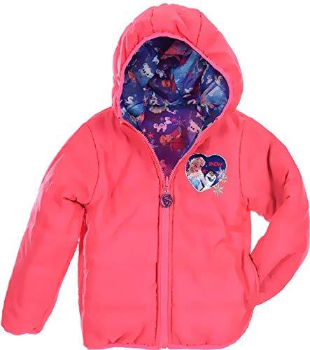 Eiskönigin Frozen jas meisjes omkeerbare jas winterjas 4 5 6 8 jaar 104 110 116 128 cm roze