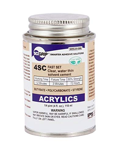 SCIGRIP Weld-On #4SC Adhesive, 4 oz. with Applicator Bottle and Needle 10315