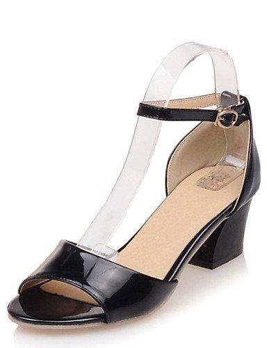 LFNLYX Zapatos de mujer-Tacón Robusto-Cuñas / Comfort / Innovador / Botas a la Moda / Zapatos y Bolsos a Juego / Zapatillas-Sandalias / Tacones Black