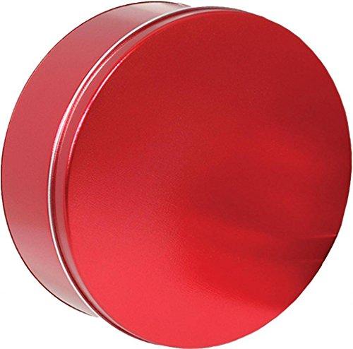 Scott's Cakes Medium Size Empty Solid Metallic Red Tin -