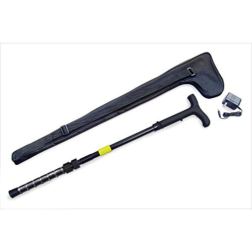 Walking Cane Stun Gun1 Million Volts with LED Flashlight Includes Case ()