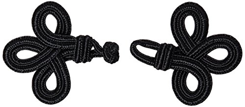 (Vision Trims 4666 Handmade Chinese Frog Closure, 1-3/4 by 4-Inch, Black Double)