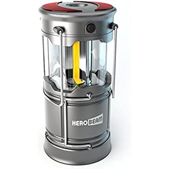 HeroBeam V3 LED Lantern - The Ultimate Collapsible Tough Lamp for Camping, Fishing, Car, Shop and Emergencies - Magnetic Lantern, Flashlight and Beacon in One!