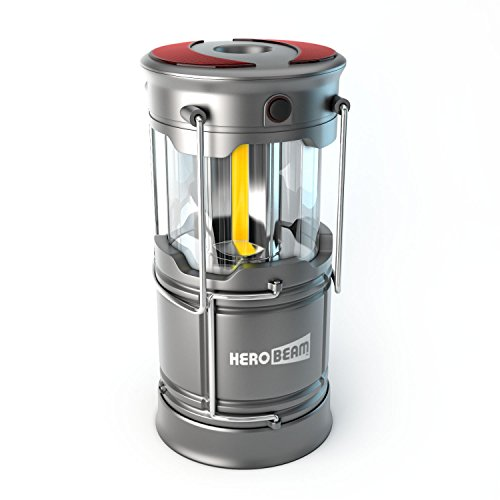 HeroBeam V3 LED Lantern - The Ultimate Collapsible Tough Lamp for Camping, Fishing, Car, Shop and Emergencies - Magnetic Lantern, Flashlight and Emergency Beacon in One! - 5 YEAR WARRANTY