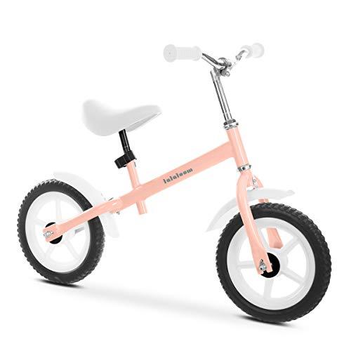 🥇 Lalaloom BERRY BIKE – Bicicleta sin pedales aluminio rosa andador bebe correpasillos niños 2 años para equilibrio manillar y sillín regulables con ruedas de goma EVA