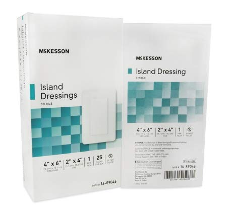 MCKESSON Adhesive Island Dressing McKesson Polypropylene / Rayon 4 X 6