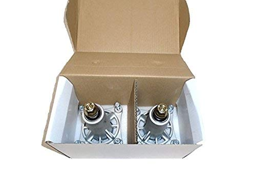 Set of Two 187292 Husqvarna Craftsman Poulan 192870 532187292 532192870 Spindle Assembly with Grease Zerk