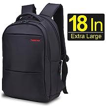 Sino Banyan Zhongrong Laptop Backpack 18 Inch / Adjustable Shackproof Sleeve / Hidden Compartment,Black
