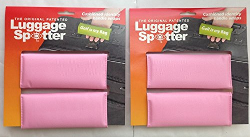 BUY ONE GET ONE FREE! Luggage Spotter PINK Luggage Locator/Handle Grip/Luggage Grip/Travel Bag Tag/Luggage Handle - 4 PACK! Matrix Source LSPINK2