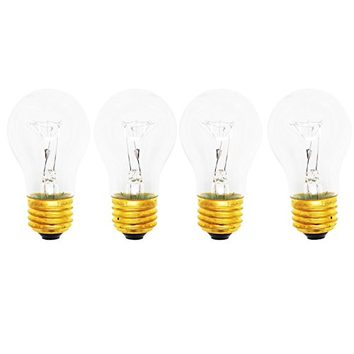 Price comparison product image 4-Pack Replacement Light Bulb for Amana 85171 - Compatible Amana 8009 Light Bulb