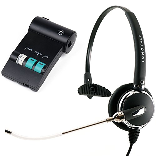 Avaya Lucent ATT Partner phone T7316, T7316e, MLS-12 Replaceable Voice Tube Call Center Microphone Headset with Headset Amplifer