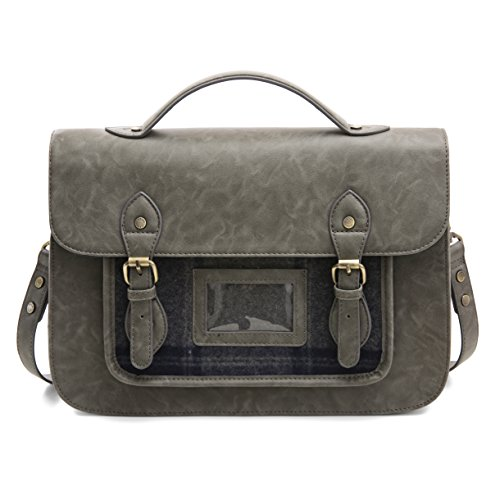 Cross Women Purse Satchel Messenger Vintage ECOSUSI Body Bag Grey Bag XwqZdY
