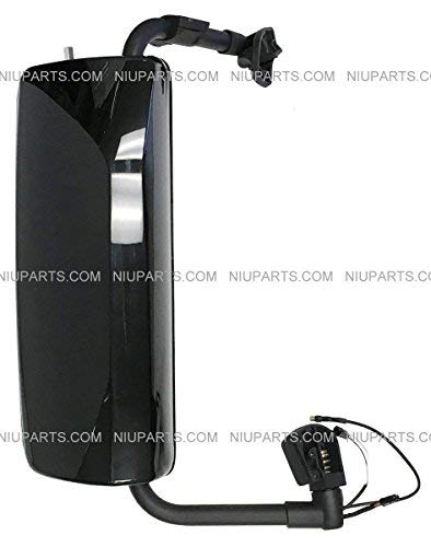 Passenger Side Door Mirror Power Heated Gloss Black with Turn Signal and Arm Fit: Volvo VNL 670 780 630 730 860, VNM 200 430 630, VNX 300 Trucks