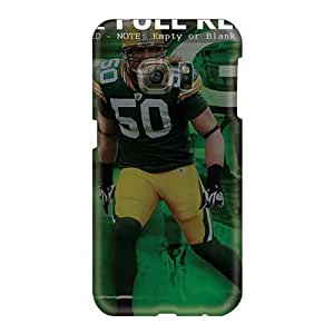 Shock Absorption Hard Phone Covers For Samsung Galaxy S6 (BuB1174TdpU) Provide Private Custom Colorful Green Bay Packers Pictures