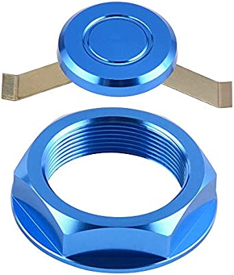 CNC Billet Blue Aluminum Steering Stem Nut Bolt For Husqvarna  WR125 TC250 TE250