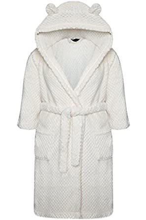 Yoursclothing Plus Size Womens Teddy Bear Hooded Fluffy Waffle ...