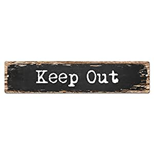 Keep Out Sign Vintage rústico Street Sign Placa Bar de playa Pub Cafe restaurante shop Home pared puerta Decor señal digital impreso
