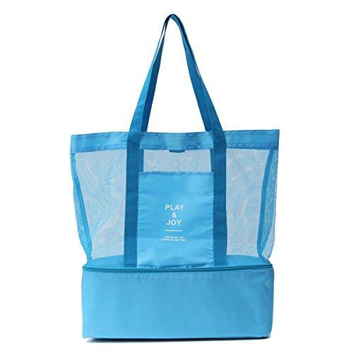 provisions pliable NOVAGO Fuschia nique Bleu les déjeuner multifonctions l'école plage et sac à et Cabas isotherme ou le la pour pique courses à 0wg0zFrq