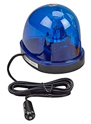 Wolo (3205-B) Emergency 1 Rotating Emergency Warning Light - Blue Lens, Magnet Mount