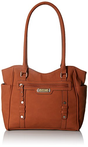 [Rosetti Let's Face It Double Handle Tote Bag, Chestnut, One Size] (Double Shoulder Tote)