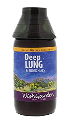 WishGarden Herbs - Deep Lung, Organic Herbal Supplement for Healthy, Strong Lungs, Promotes Natural Blood Oxygenation (4 oz)