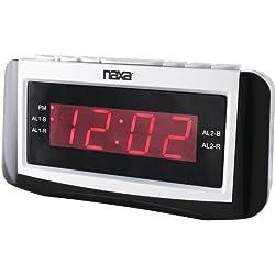 Naxa - Digital Alarm Clock With Large Led Display , Naxa - Digital Alarm Clock With Large Led Display Pll Digital Alarm Clock Am/Fm Radio 0.9 Large Led Display 10 Am/10 Fm Radio Station Presets Dual
