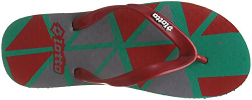 Lotto Men's Green/Red/Grey Hawaii House Slippers