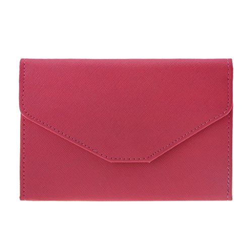 Trifold Leather Wallet Travel Pouch Purse Credit Card Case Passport ()