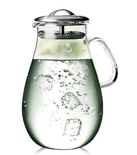 64 ounce glass pitcher with lid - 9