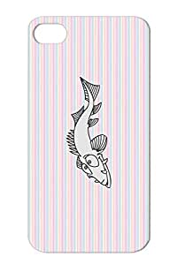 Tear-resistant Silver Protective Case For Iphone 4s Fish Marine Life Animals Nature