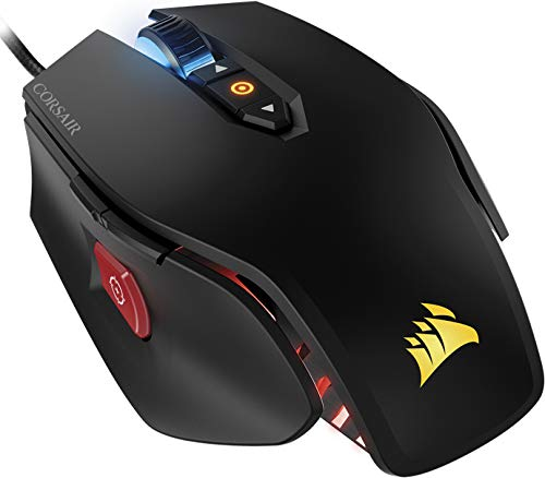 - Corsair M65 PRO RGB Optical FPS Gaming Mouse (12000 DPI Optical Sensor, Adjustable Weights, 8 Programmable Buttons, 3-Zone RGB Multi-Colour Backlighting, Xbox One Compatible) - Black