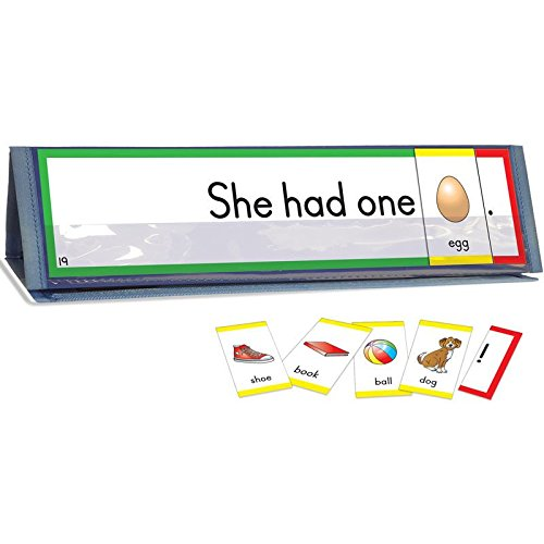 Really Good Stuff Sight Word Sentence Builders: 1st 50 Fry Word Cards & Desktop Tents Kit