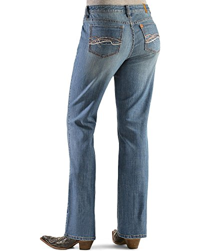 Instantly Slimming Jean (Wrangler Women's Aura Instantly Slimming Embroidered Pocket Bootcut Jeans Denim 20 S)