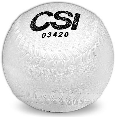 Soft, Cork Sponge Center Rubber Covered Playground Softballs (One dozen) by CSI Cannon Sports