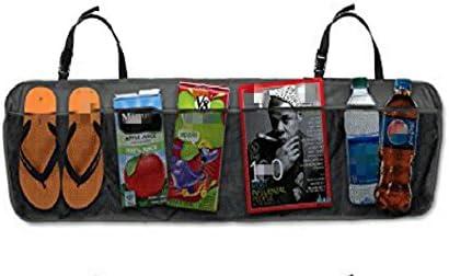 Design61 Auto Kfz Rücksitz Rücksitztasche Utensilientasche Rücksitz Organizer Kofferraum Organizer Kofferraumtasche Tasche 6 Fächer Auto