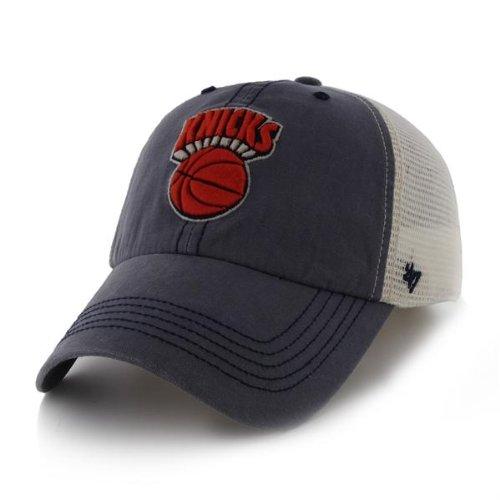 NBA New York Knicks Caprock Canyon Stretch Fit Cap, One Size, Navy