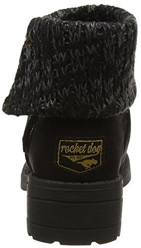 coast charlie Tobie Para Mujer Black Botines Black Dog Rocket Negro c05q8vT8w