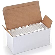 50 New, High Quality, Clear, Empty, 5.5 ml Lip Balm Tubes with White Caps